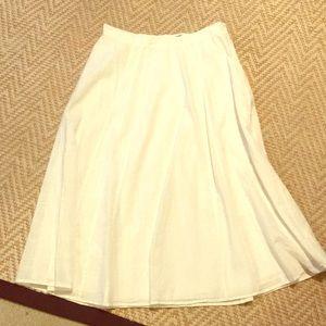 White linen maxi skirt